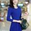 [พรีออเดอร์] ชุดเดรสผู้หญิงแฟชั่นเกาหลีใหม่ แขนยาว แบบเก๋ เท่ห์ - [Preorder] New Korean Fashion Slim Long-sleeved Dress thumbnail 1