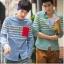 พรีออเดอร์ เสื้อเชิ้ตทำงานแฟชั่นเกาหลีสำหรับผู้ชาย แขนยาวลายสก๊อต เก๋ เท่ห์ - Preorder Men Korean Hitz Slim Long-sleeved Plaid Shirt thumbnail 1