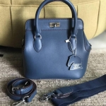 กระเป๋าหนังวัว toolbox หนัง swift size20 Blue jean
