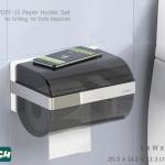 DIY-15 เซตกล่องใส่กระดาษทิชชู่ ไม่ต้องเจาะผนัง