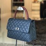 กระเป๋าหนัง C Coco Caviar Lambskin (น้ำเงินหูแดง)