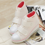 [Pre-Order]รองเท้าผ้าใบแฟชั่น(ส้นสูง)ผู้หญิง นำเข้าจากเกาหลีแท้ size 35-40