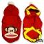 เสื้อสุนัข ลายลิง สีแดง thumbnail 2