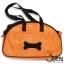 กระเป๋าใส่สุนัข ลายกระดูก สีส้ม thumbnail 2