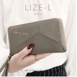 กระเป๋าสตางค์ผู้หญิง LIZE-L สีเทา