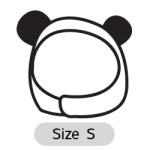 หมวกสุนัข มีหู สีดำ Size S