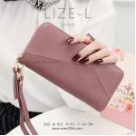 กระเป๋าสตางค์ผู้หญิง LIZE-L สีถั่วแดง