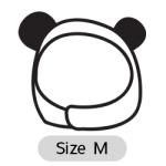 หมวกสุนัข มีหู สีดำ Size M