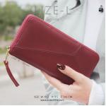กระเป๋าสตางค์ผู้หญิง LIZE-L สีแดง