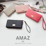 กระเป๋าสตางค์ ใบยาว ซิปรอบ รุ่น AMAZ ZIP สีดำ