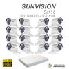 sunvision 2MP Full HD (ชุดสุดโปรโมชั่นกล้อง 16 ตัว ) (DS-7116HQHI-F1x1+SC-115D0IRx16)