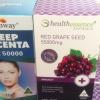 Red Grape Seed 55,000 mg 1 ปุก 100 เม็ด +รกแกะ Healthway 50,000 mg.1ปุก 100 เม็ด บำรุงผิวพรรณให้ดูขาว สดใส อ่อนเยาว์แบบติดจรวด
