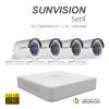 sunvision 2MP Full HD (ชุดสุดโปรโมชั่นกล้อง 4 ตัว ) (7104HQHI-F1x1+SC-115D0IRx4)