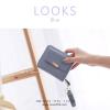 กระเป๋าสตางค์ผู้หญิง ใบสั้น รุ่น LOOKS สีฟ้า