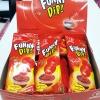 พร้อมส่ง ** Funny Dip Strawberry + Strawberry อมยิ้มดิปช็อคโกแลต รสสตรอเบอร์รี่ล้วน 1 ชิ้น (สินค้ามีอย.ไทย)