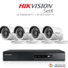Hikvision 2MP (ชุดสุดโปรโมชั่นกล้อง 4 ตัว) (DS-7204HQHI-F1+DS-16D0T-IR X 4)