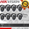 Hikvision (( Camera Set 8 )) (DS-2CE16D0T-IR x 8 , DS-7208HUHI-F2/N x 1)