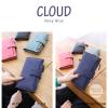 กระเป๋าสตางค์ผู้หญิง รุ่น CLOUD สีน้ำเงิน ใบยาว