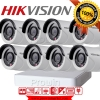 Hikvision ชุดกล้องวงจรปิด HD720P (DS-2CE16C0T-IR x 8, DS-7108HGHI-E1 x 1) HIKVISION SET 8Channel Turbo HD 720P 8 Camera 1 DVR