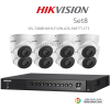 Hikvision 3MP (ชุดสุดโปรโมชั่นกล้อง 8 ตัว ) (DS-7208HUHI-F1 X1+DS-56F7T-IT1 X 8)