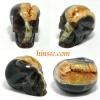 Geode agate crystal skull หัวกระโหลกแกะจากจีโอดอาเกต