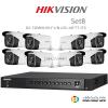 Hikvision 3MP (ชุดสุดโปรโมชั่นกล้อง 8 ตัว ) (DS-7204HUHI-F1 X1 + DS-2CE16F7T-IT3 X8)