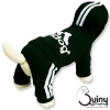 ชุดสุนัข กางกาง adidog สีดำ