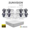 sunvision 2MP Full HD (ชุดสุดโปรโมชั่นกล้อง 8 ตัว ) (DS-7108HQHI-F1x1+SC-115D0IRx8)
