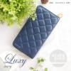กระเป๋าสตางค์ผู้หญิง รุ่น LUXY สีน้ำเงิน ซิปรอบ Navy Blue