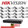 Hikvision ชุดกล้องวงจรปิด Set 16 DS-2CE16D0T-IT3 x 16 DS-7216HQHI-F2/N x 1