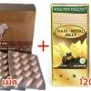 รกแกะHigh Care Premium Sheep Placenta 60000 Plus Hyalunic Acid + นมผึ้ง Wealthy health Maxi Royal Jelly 6%