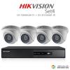 Hikvision 2MP (ชุดสุดโปรโมชั่นกล้อง 4 ตัว) (DS-7204HQHI-F1+DS-56D0T-IR X 4)