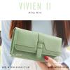 กระเป๋าสตางค์ผู้หญิง รุ่น VIVIEN II สีเขียวพาสเทล