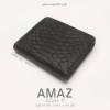 กระเป๋าสตางค์ผู้หญิง แบบบาง รุ่น AMAZ SlimII สีดำ