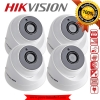 HIKVISION (( Camera Pack 4 )) DS-2CE56D0T-IT3 x 4 2MP DOME 1080P Turbo HD