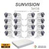 sunvision 1MP HD (ชุดสุดโปรโมชั่นกล้อง 16 ตัว ) (DS-7116HGHI-F1x1+SC-116C0IRx16)
