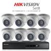 Hikvision 2MP (ชุดสุดโปรโมชั่นกล้อง 8 ตัว) (DS-7208HQHI-F1+DS-2CE56D0T-IR X 8)