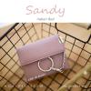กระเป๋าสตางค์ผู้หญิง ใบสั้น รุ่น SANDY สีแดง อินเดียน