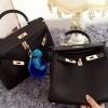 กระเป๋าหนังวัวทั้งใบ hermes kelly 28' (Black)