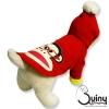 เสื้อสุนัข ลายลิง สีแดง
