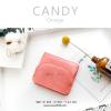 กระเป๋าสตางค์ผู้หญิง ใบสั้น รุ่น CANDY สีส้ม