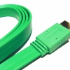 HDMI TO HDMI CABLE 1.5M COLOR FLAT GREEN
