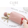 กระเป๋าสตางค์ ใส่เหรียญ รุ่น CUBE สีชมพู