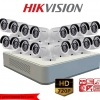 Hikvision ชุดกล้องวงจรปิด HD720P (DS-2CE16C0T-IR x 16, DS-7116HGHI-F1 x 1) HIKVISION SET 16Channel Turbo HD 720P 16 Camera 1 DVR