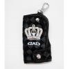 พวงกุญแจกระเป๋าหนังดำ DAD *หมด*