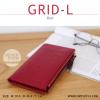 กระเป๋าสตางค์ผู้หญิง รุ่น GRID-L สีแดง ใบยาว สองซิป