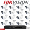 HIKVISION (( Camera set 16 )) DS-2CE16D0T-IR x 16 DS-7216HQHI-F2/N x 1