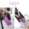 กระเป๋าสตางค์ผู้หญิง ทรงถุง กระเป๋าคลัทช์ สีม่วง รุ่น LILLY
