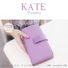 กระเป๋าสตางค์ผู้หญิง รุ่น KATE สีม่วงอ่อน ใบยาว