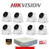 Hikvision (( Camera Set 8 )) HD720P (DS-2CE56C0T-IT3 x 8, DS-7108HGHI-E1 x 1)